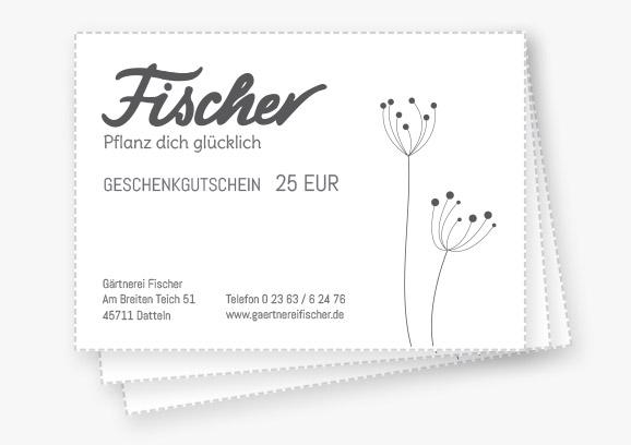 Gärtnerei Fischer Geschenkgutscheine